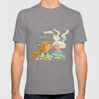 Friends Mens Fitted Tee Tri-Grey SMALL