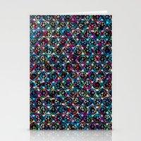 Stardust Geometric Art Print. Stationery Cards
