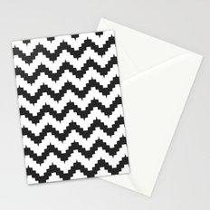 Funky chevron - black Stationery Cards