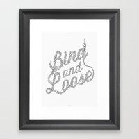 Bind & Loose Framed Art Print