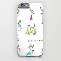 iPhone & iPod Case featuring birds with dishes by karindrawings