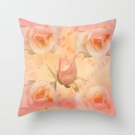 Throw Pillow featuring A Rose Is A Rose by Thea Walstra