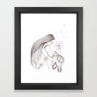 Dandelion Daze Framed Art Print