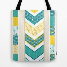 Sunshine Chevron Tote Bag