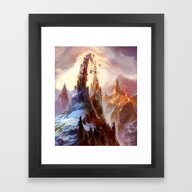 Framed Art Print featuring Mountain by Veronique Meignaud M…