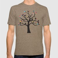 Love Blossoms Mens Fitted Tee Tri-Coffee SMALL