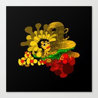 Beheaded with Flowers Canvas Print
