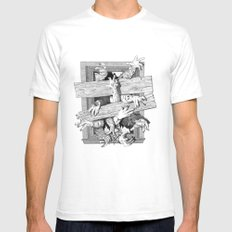 Zombies Mens Fitted Tee White SMALL
