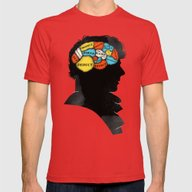 Sherlock Phrenology Mens Fitted Tee Red SMALL