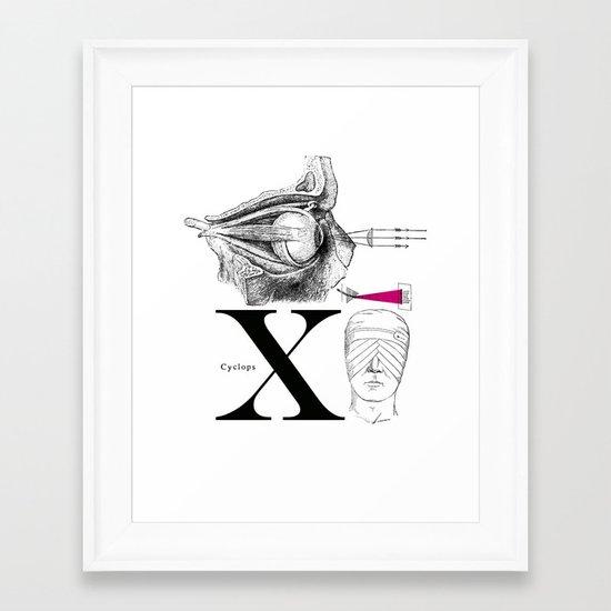 Etude - Cyclops Framed Art Print