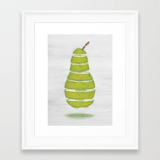 A Pear Apart Framed Art Print