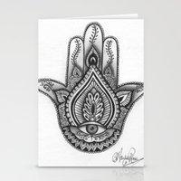 Hamsa Hand Illustration … Stationery Cards