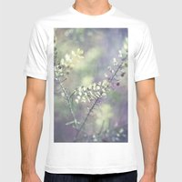 Abstract Magic Mens Fitted Tee White SMALL