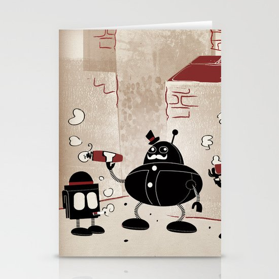 Smoke Break at the Clink Clang Detective Agency Stationery Card