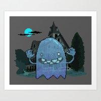 Pixel Ghost Art Print