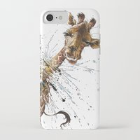 giraffe iPhone & iPod Cases featuring Giraffe by TAOJB