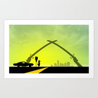 New Austin (Iraq Swords) Art Print