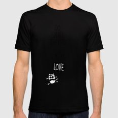 do small things with great love Mens Fitted Tee Black SMALL