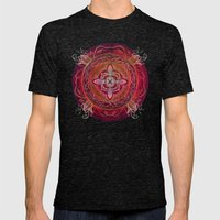 Root Chakra Mens Fitted Tee Tri-Black SMALL