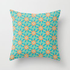 Tropical Florals Throw Pillow