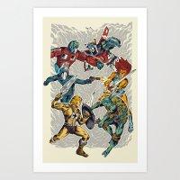 80's Smash Art Print