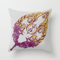 Serenity Victoriana Throw Pillow