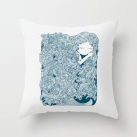 Mermaid Dreams Throw Pillow