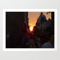 14th St Manhattanhedge Art Print