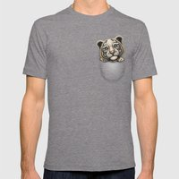 POCKET TIGER Mens Fitted Tee Tri-Grey SMALL
