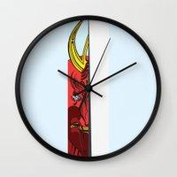 Strait Samurai Sword Wall Clock