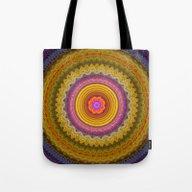 Grunge Flower In A Zigza… Tote Bag