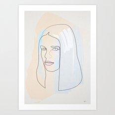 One Line Ali Mac Graw Art Print