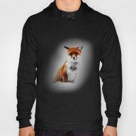 Painted Winter Fox Hoody