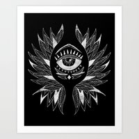 Wing & eye Art Print