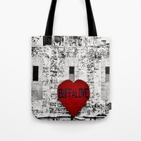 Buffalo Love black white and red Tote Bag