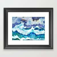 Stormy Sea Framed Art Print
