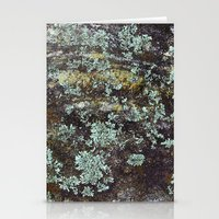 Granite And Lichen  Stationery Cards