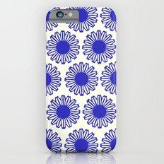 vintage flowers blue  Slim Case iPhone 6s