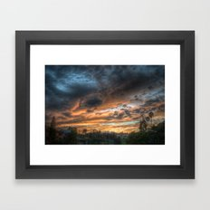 Vista (the sky is source of great beauty) Framed Art Print
