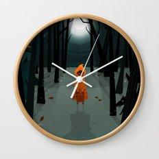 Woods Girl Wall Clock