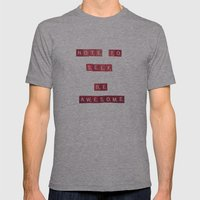 Note To Self Mens Fitted Tee Athletic Grey SMALL
