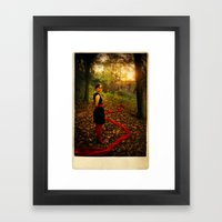 Lizzie Nunnery in the Garden 2 Framed Art Print