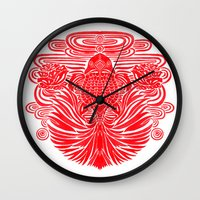 The Red Goldfish Wall Clock