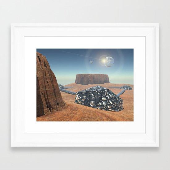 Mars Babylon Colony, view of Armageddon  Framed Art Print