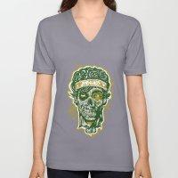 Brainz Zombie Print Unisex V-Neck