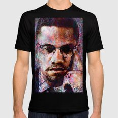 MALCOLM X Mens Fitted Tee Black SMALL