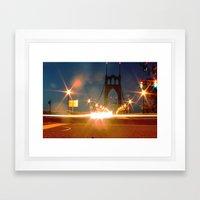 Night crossing Framed Art Print