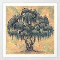 Crepe Myrtle Tree In Blo… Art Print