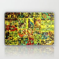 Abstract In Yellow  Laptop & iPad Skin