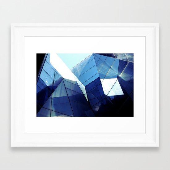 Diamond Glasses Framed Art Print